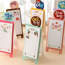 100x diy verticle stand adhesive carton paper sticky notes and memo pads sticker cute lovely animal post it note school supplies