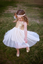 Couture Gold Sequin Dress girls golden dress,sequined dress,sequin tulle dress,girls gold tutu