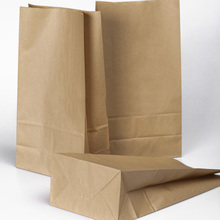 Great Useful 10Pcs Oil Proof Kraft Paper Gift Bags Vintage Party Supplies Brown Paper Bags