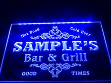 DZ058- Name Personalized Custom Family Bar & Grill Beer Home Gift  LED Neon Light Sign
