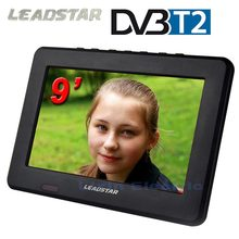 2017 DVB-T2/DVB-T Televisions 9inch TFT LCD Color DVB-T2 Portable TV With Wide View Angle, Support TF Card/USB Flash Disk(China)