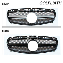 GOLFLIATH AMG Style W176 ABS Black Front Grill Grille for Mercedes Benz A-CLASS A180 A200 A260 A45 AMG 2013 2014 2015(China)