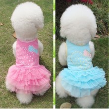 Soft Cotton Love Heart Mark cute Dog costume Yorkshire Chihuahua puppy dog clothes pet dog dress
