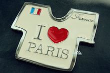 France Soccer Jersey I Love Paris Tourism Travel Souvenir Metal Fridge Magnet Craft GIFT IDEA(China)