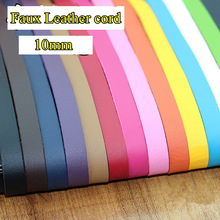 13colors/lot 10mm faux leather cord/lace/strip/string suede cord DIY accessory necklace bracelet thong jewellery  free shipping