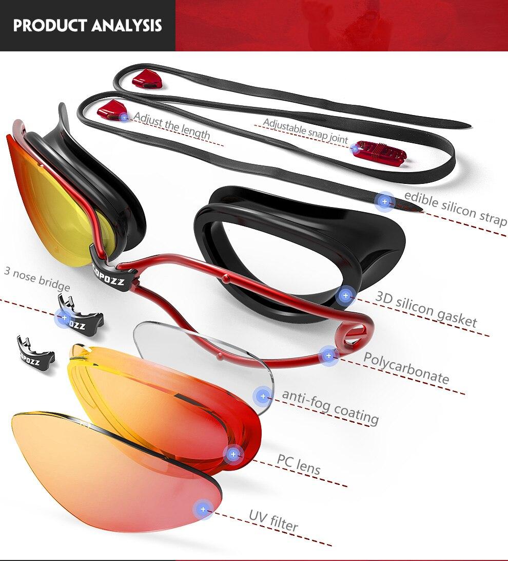 bd63f41e5c64 Copozz New Professional Anti-Fog UV Protection Adjustable Swimming ...