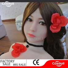 Cosdoll 140cm Lifelike Real Asia Sex Doll, Full Size Silicone with Skeleton Love Doll, Oral Vagina Pussy Anal Dolls, Free Ship(China)