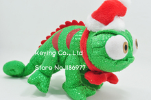 Rapunzel Chameleon Pascal Lizard With Christmas Hat Cute Stuffed Animals Plush Toy Doll Girl Birthday Gift