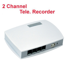 "2 ch voice activated USB telephone recorder telephone monitor USB phone logger monitor support tone ""calls are being reocrded""(China)"