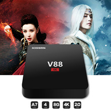 TV Box Android 5.1 RK3229 Quad core TV Receiver Media Player 1G RAM 8G ROM 4K Smart TV for KODI youtube loaded Miracast player