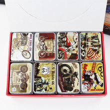European Vintage Style Tin Box Candy Pill Tea Storage Box 16Piece/Lot Exquisite Packaging Metal Case Mac Cosmetic Organizer