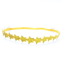 1pcs New little Girl Silver Gold Star Headband Fashion bebe Halo Headband for Hair accessories Newborn Brilliant Gold Head band(China)