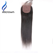 Alicrown Hair Silky Straight Silk Base Closure With Baby Hair Brazilian Remy Hair 8~20 inch Free Shipping