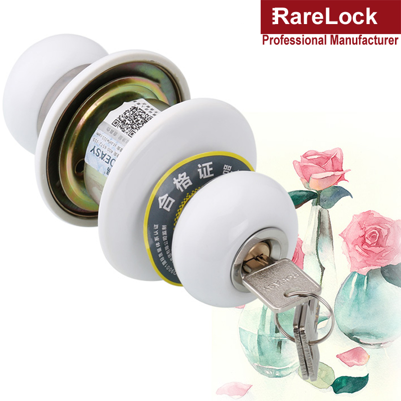 Rarelock Christmas Supplies Door Lock with Keys Knob for Office Home Security Women Bag Shop Door Hardware Bathroom DIY c<br>