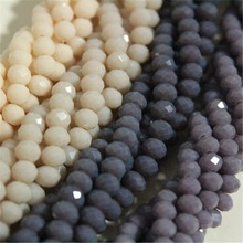 6mm Ceramic Purple Peach Rondelle Crystal Beads,100pcs,AAA Top Quality Austrian Bracelet Necklace Beads, Free Shipping B665(China)