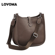 2017 Genuine Leather Women Bucket Messenger Bag Cow Real Leather Shoulder Bags for Ladies Handbag Bolsa Feminina Small Purse