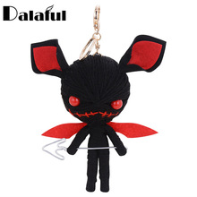 Dalaful Hand-made Woven Key Chains Rings Holder Knitting Voodoo Doll Demons Monsters Evil Bag Pendant Keyrings KeyChains K285