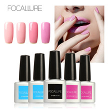 FOCALLURE Bling UV Gel Nail Polish Gel Nail Polish Long Lasting UV Gel Colorful Polishes Nair Art Pick Pink Series