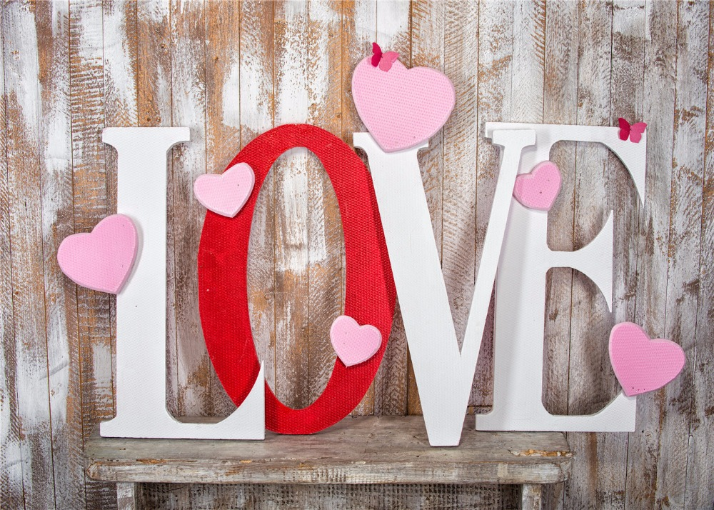 Love Letter Heart photography studio background High-grade Vinyl cloth Computer printed Wooden backdrop<br><br>Aliexpress