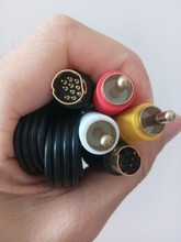 New gold Plated SAV RCA Video Audio Composite Cable for Sega Saturn S-Video AV(China)