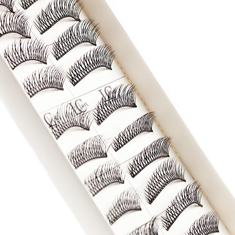 LCBOX 10 Pairs handmade Natural Long False Eyelashes mink eye lashes 3D Fake EyeLashes Extensions Makeup women&lady beauty set