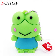 FGHGF HOT sale usb flash drive gifts Frog animal pen drive 128GB 2GB 4GB 8GB 16GB 32GB frog pen drive memory stick