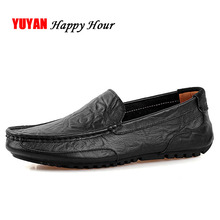 High Quality Genuine Leather Shoes Men Flats Fashion Loafers Mens Flats Slip on Driving Shoes Male Brand Shoes Plus Size ZH992
