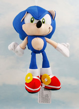 High quality 19cm Blue Sonic the Hedgehog Plush Doll Toys Soft Sonic Stuffed Animals Characters Kids Toys brinquedos Dolls Gifts(China)