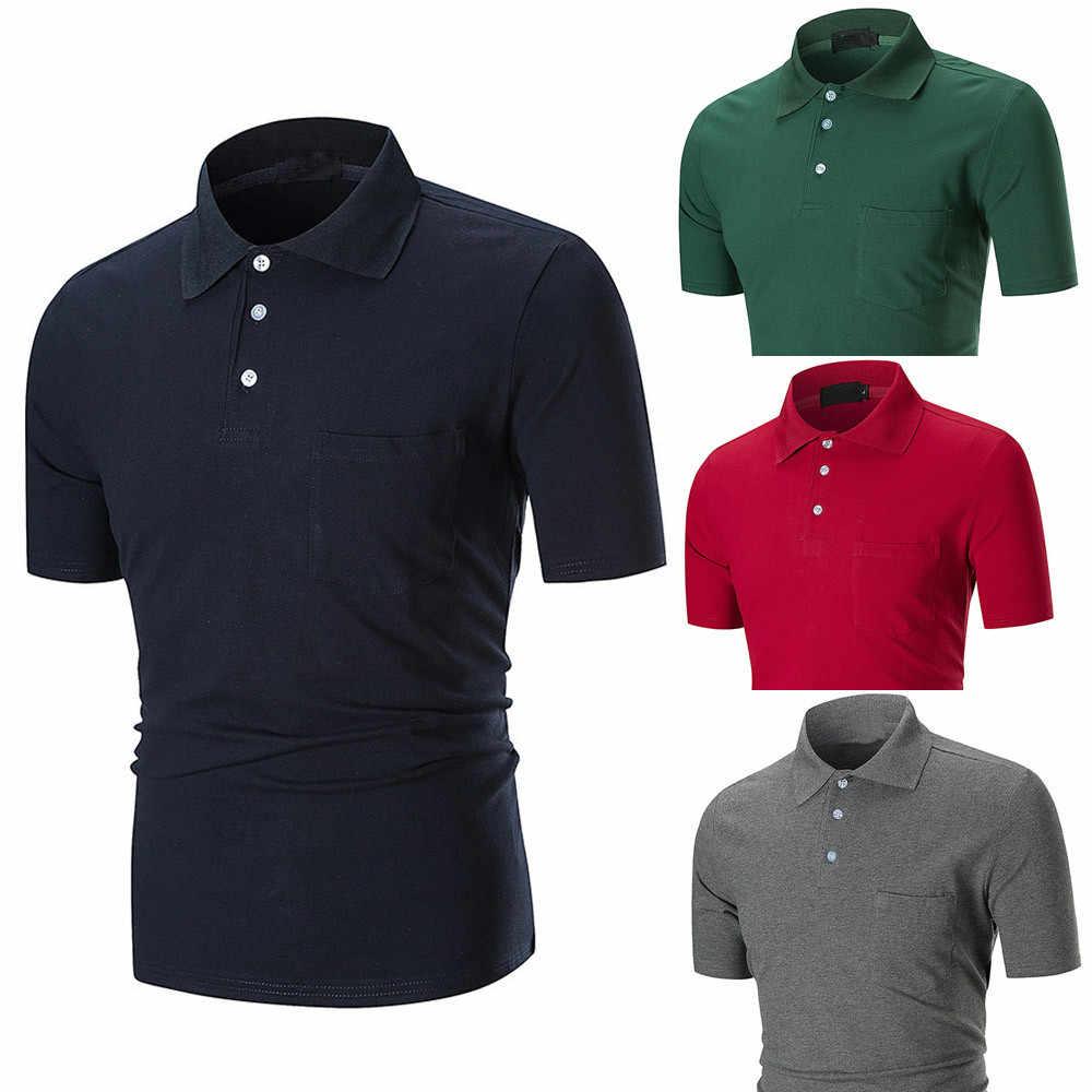 6a003e0b8 New 2019 KLV Brand Men shirt Solid Color short-Sleeve Slim Fit tommy Shirt  Men