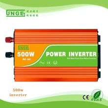 Free shipping 500w Pure Sine Wave inverter 12v 220v UPS function with USB for solar power system car inverter