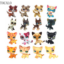 5cm LPS Pet Shop Cute Short Hair Collections White Pink Yellow Tabby Black Orange Super Hero Kitty Animal Action Figure(China)