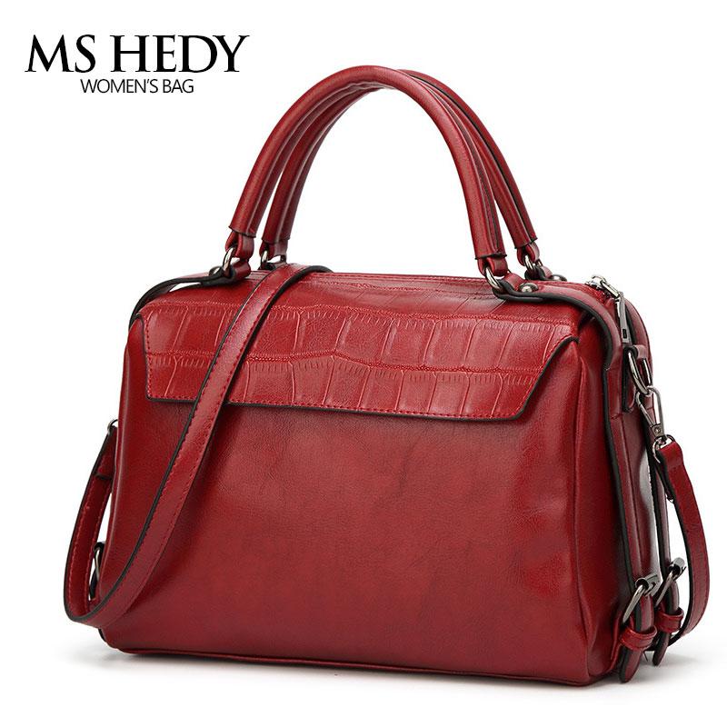 MS HEDY New Women Handbag Pillow shape Shoulder Bags PU Fashion Retro Ladies Crossbody Messenger Bag <br>