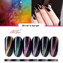 3D cat eye gel polish UV/Led Three Step Gel Polish popular nail art use magnet gel make much shape and different colors effect(China)