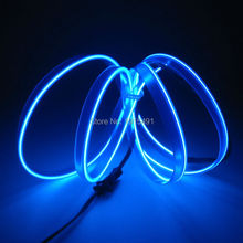 New Design 2.3mm EL Cable Rope Sew Tag Flickering 1Meter LED Glowing Strip with 12V Inverter for Festival,Event Party Supplies(China)