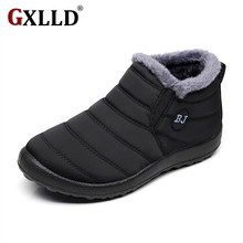 New Fashion Men Winter Shoes Solid Color Snow Boots Plush Inside Antiskid Bottom Keep Warm Waterproof Ski Boots Size 39 - 44(China)