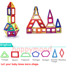 1 Pcs Standard Size Magnetic Building Blocks Construction Toys Model Gift For Kids Designer DIY 3D Game Square Triangle Hexagon