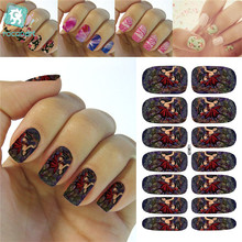 Rocooart K5687 Water Transfer Nails Art Sticker Cartoon Halloween Easter Manicure Decor Decals Wraps Sticker for Nail(China)