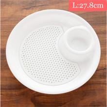 Creative Plastic Dual-layer Disc Dumplings Dinner Plate Fruit Tray Furniture Kitchen Bowl Multifunction Dishes Tableware