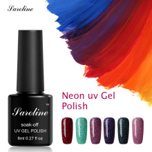 Saroline Long Lasting Star Rainbow Nail Glue Art Design Neon Nail Polish Bling UV LED Lamp Soak Off Gel Polish Semi-permanent(China)