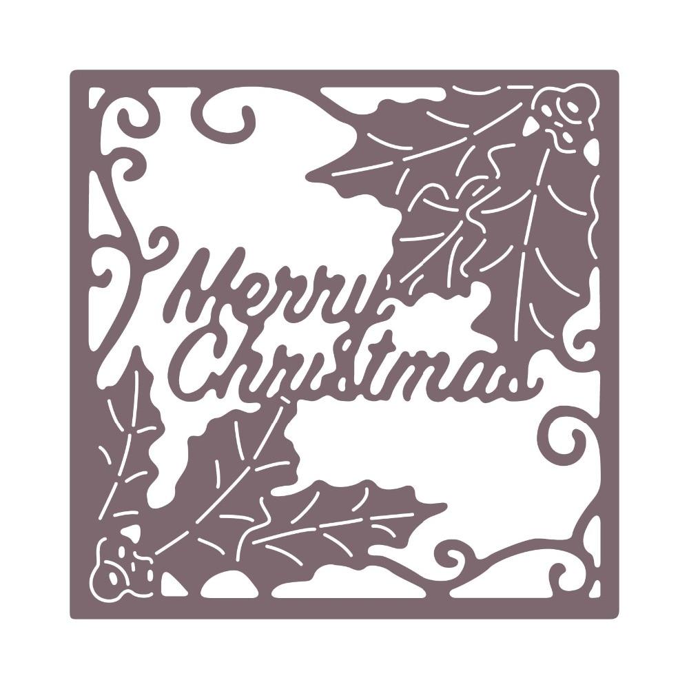 MERRY CHRISTMAS Scrapbooking Paper Crafts Cutting Dies Metal Embossing Stencil