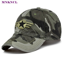 MNKNCL 2017 New Arrival Men Pentagram Cap Top Quality Baseball Caps Camouflage Hunting Fishing Hat Camo Baseball Hats Adjustable(China)