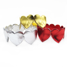 david angie 7/8'' Love Heart Mirror Leather Artificial Leather Ribbon 5Y,DIY Holiday Party Wedding Decoration headband,5Y53749(China)