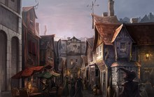 Market harry potter fantasy art witches fictional landscapes diagon alley 4' Size Home Decoration Canvas Poster Print(China)