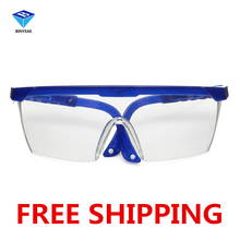 5 Pcs Free Shipping PC goggles Glasses Labour Protection Eye Protection Dustproof Sprayproof Glasses Safety(China)
