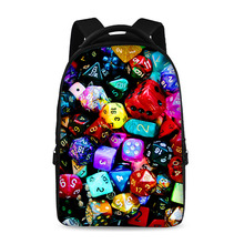 17-inch stitching pattern colorful school backpack youth boys and girls laptop bag can store 15-inch computer