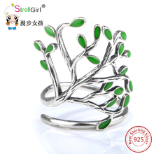 100% Authentic 925 Sterling Silver Chrysanthemum Flower&leaf Finger Rings Compatible With Original Pan Ring Jewelry for Berloque(China)
