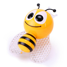 Lovely Cute Insect Bee Night Light EU Plug Wall Lamp Kids Bedroom RGB PIR Night Lamp With Sensor For Baby Birthday Gift