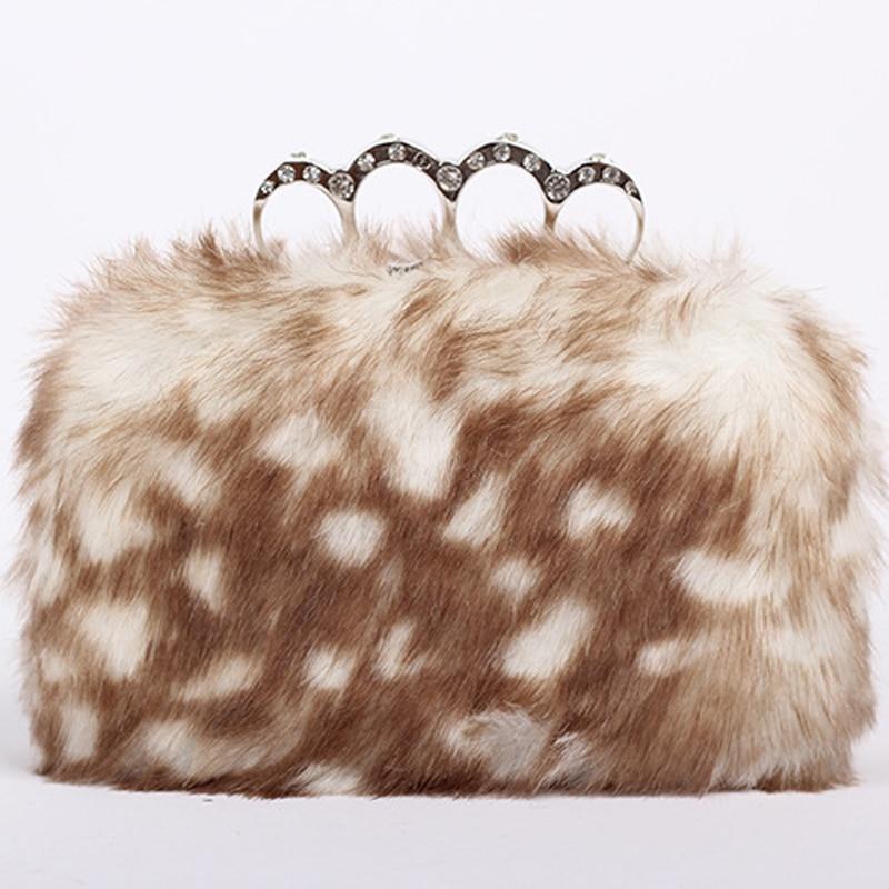 2017 autumn and winter fashion womens European elegance hand banquet dinner bag rabbit free shipping<br><br>Aliexpress