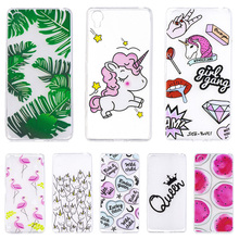 For Sony X Fashion Ultra Thin Flexible TPU Case For Sony Xperia X F5121 Unicorn Banana leaves Soft Silicone Back Cover Shell(China)