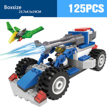Future Military world war Laser gun armored car vehicle chariot building block army figures birds fighter bricks toys for boys